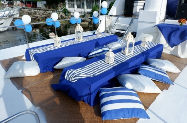 low tables manila yacht party nautical